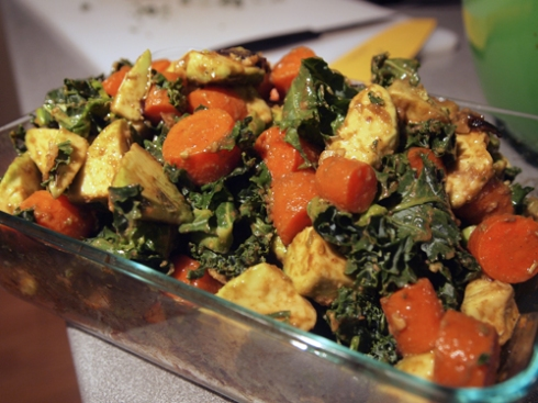 roasted carrot avocado kale salad urbanpocketknife