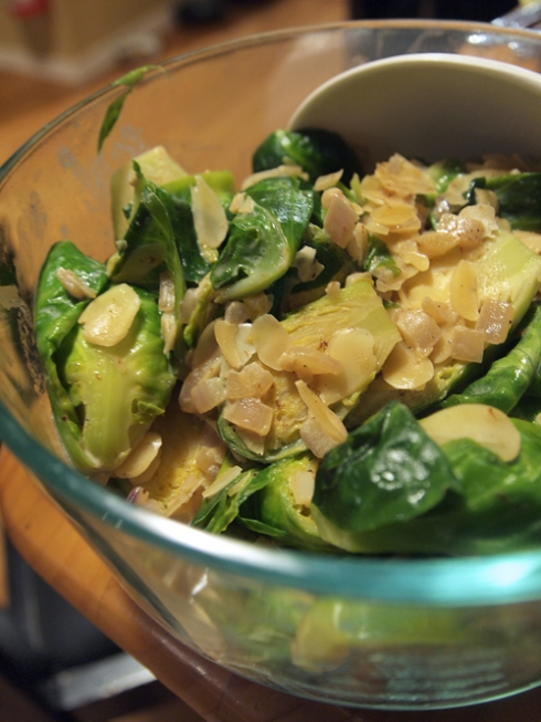 cream brussel sprouts with almonds urbanpocketknife
