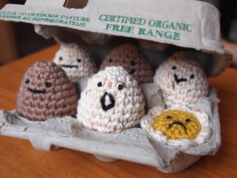 amigurumi eggs urbanpocketknife