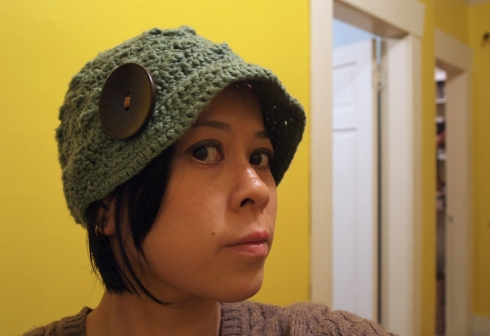 green rimmed crochet hat urbanpocketknife