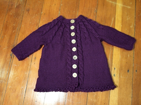 julia's knit baby cardi the urbanpocketknife
